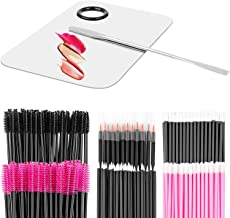 Makeup Mixing Palette with Spatula and 250PCS Disposable Makeup Applicators Tools Kit (Disposable Mascara Wands, Lipstick ...