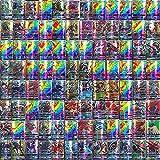 YITAO 100Pcs Poke Cards Rare Poke-mon Cards TCG Style Holo EX Full Art Poker, Ultra Rare Poke Cards Gift (95GX + 5MEGA)