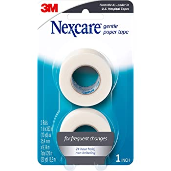 Nexcare Gentle Paper First Aid Tape, Tears Easily, 2 Rolls