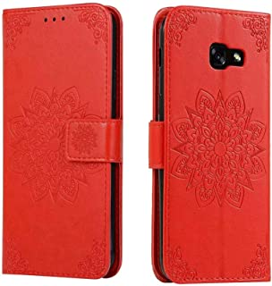 Galaxy A5 2017 Leather skin,Hllycr Wallet Shockproof Cover for Samsung Galaxy A5 2017 with Card Holder ID Slot Kickstand -...