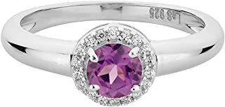 La Soula 925 Sterling Silver Engagement Ring Solitaire Created Alexandrite Gemstone Ring For Women