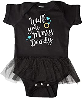 inktastic Will You Marry Daddy-Ring White Infant Tutu Bodysuit