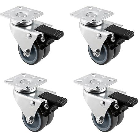 roulettes avec frein pour palettes Roulettes pour meubles Di Tout Per Tutti/® Lot de 4 roulettes pour chariot 50 mm 160 kg pour meubles roues pivotantes lourdes pour /établi