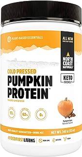 North Coast Naturals Cold Pressed Pumpkin Protein Powder – Rich in Magnesium, Iron and Zinc – 340 g - Pumpkin Spice