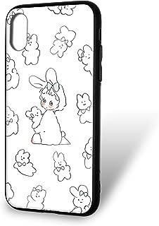 Caho 壳 玻璃 印刷 TPU 兔子WN-LC1091131 1_ iPhoneXS Max 兔子B
