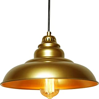 Barn Pendant Lights, FINXIN 1-Light Hanging Light for Kitchen Dining Table FXPL03 Gold 12