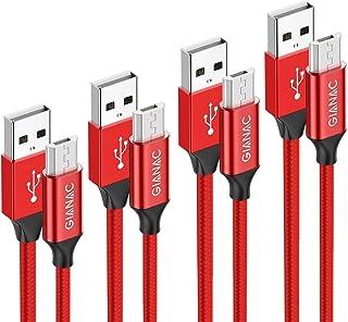comprar comparacion Cable Micro USB,4 Pack 0.5m+1m+2m+3m Trenzado de Nylon Cable Carga Rápida y Sincronizació Compatible con Android, Samsun...