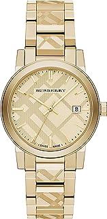 Swiss Engraved Gold Check Date Dial 38mm Unisex Men Women Wrist Watch The City BU9038