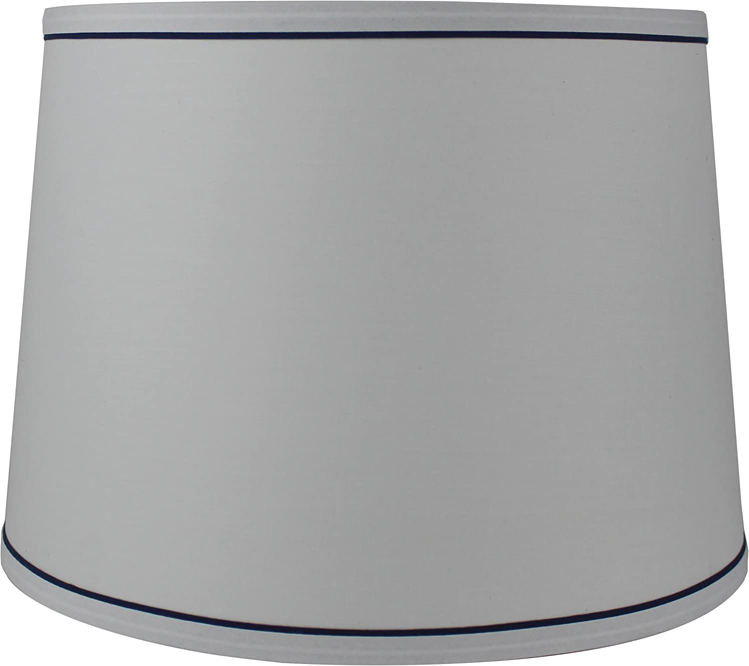 Urbanest White with Trim Max 77% OFF French by Lampshade Credence 12-inch Drum 14-in