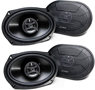 $50 » Hifonics Zeus 800 Watt 6 x 9 Inch 3 Way Car Audio Coaxial Speakers, 2 Pairs
