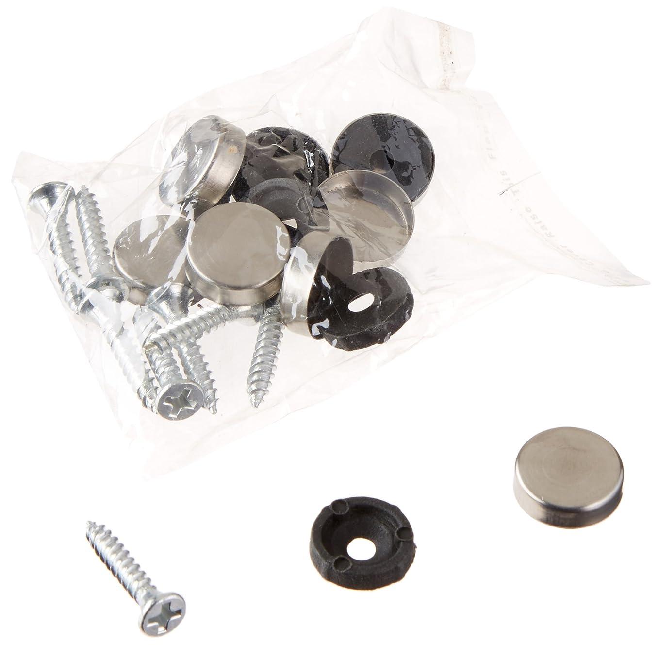 8 Pcs 14mm Dia Stainless Steel Decorative Mirror Screw Cap Nails