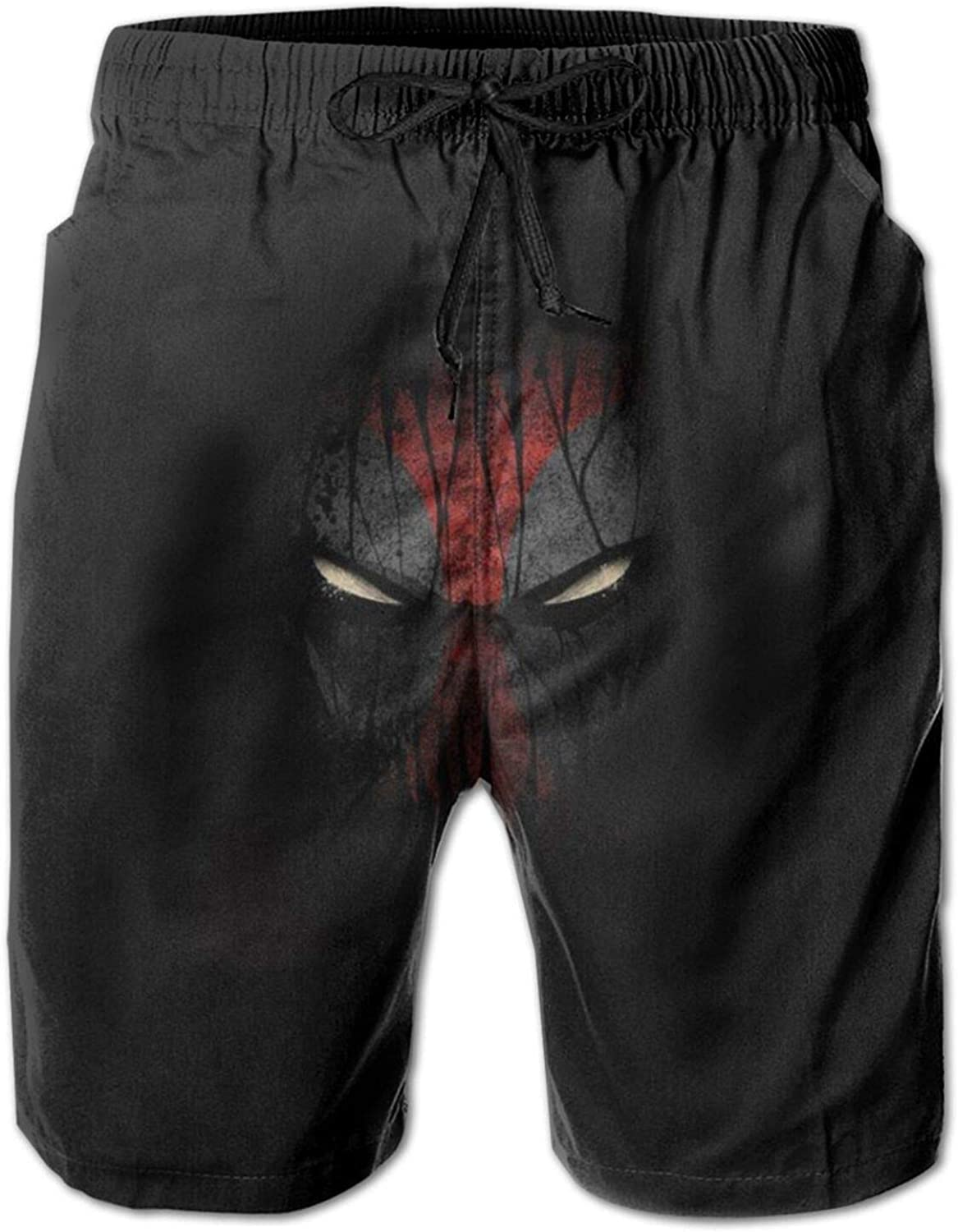 Xoees Deadpool Mens Swim Trunks Shorts Quick Dry with Pockets Mesh Lining for Beach Surfing Homewear Fitness.