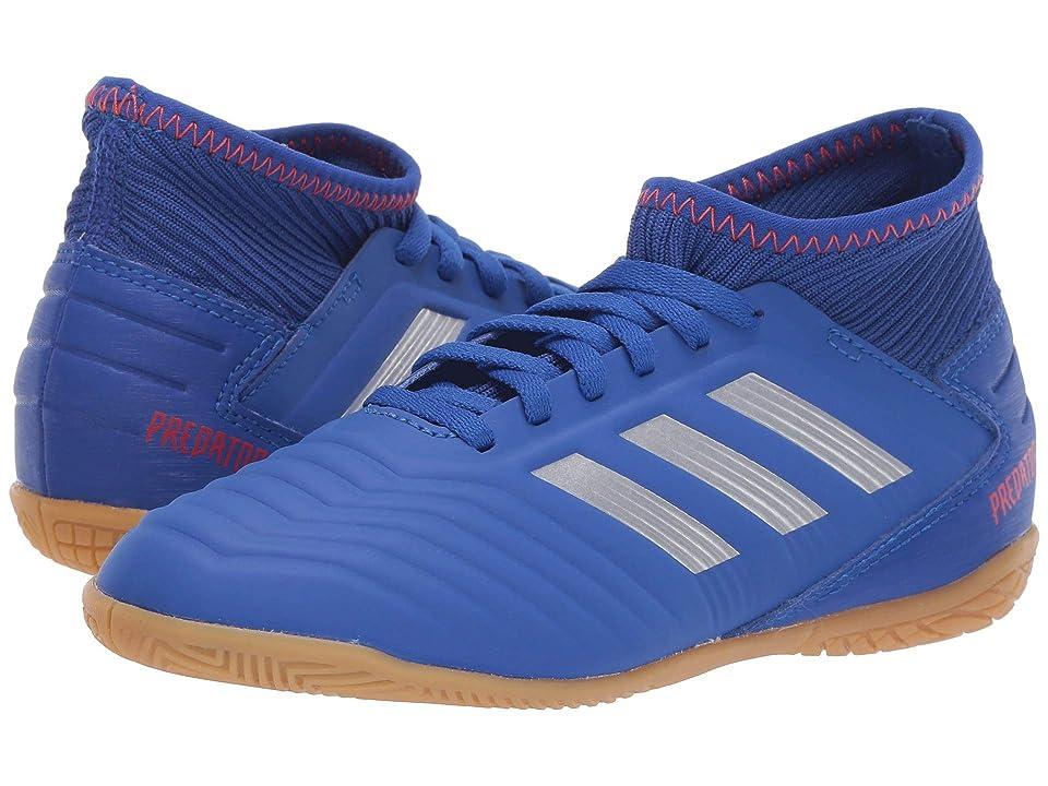 adidas Kids Predator 19.3 IN Soccer (Little Kid/Big Kid) (Blue/Silver/Active Red) Kids Shoes