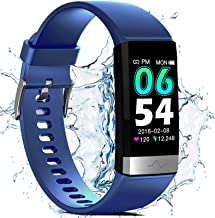 Fitness Activity Tracker for Men Women, Heart Rate Monitor Blood Oxygen Sleep Tracking Steps Calorie Counter, IP68 Waterproof 1.14'' HD Screen, Compatible with iPhone Android Smart Phones