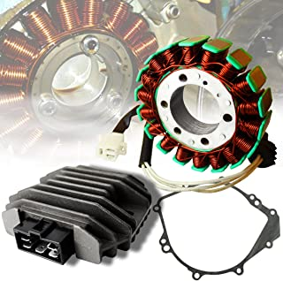 ExtremePowersports OE Magneto Coil Stator+Voltage Rectifier+Gasket Assy. For 99-02 YZF-R6/R6S/YZFR6/YZFR6S/YZF-R6S 600 5EB-81410-00-00/4JH-81960-00-00/ 4JH-81960-01-00