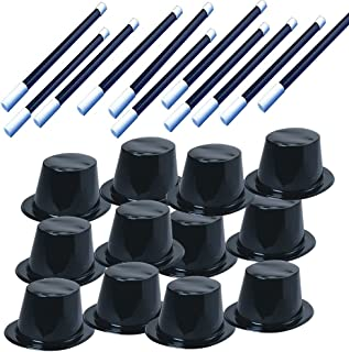 Tigerdoe Party Favors - Magician Birthday Party Supplies,12 Magician Hats & 12 Magic Wands