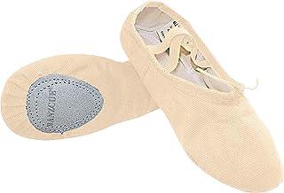 Danzcue Ballet Slipper Women's Canvas Split Sole Ballet Shoes