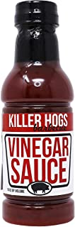 Killer Hogs Vinegar Sauce | Championship Grill and BBQ Sauce for Beef, Steak, Burgers, Pork, and Chicken | Sweet and Tangy...