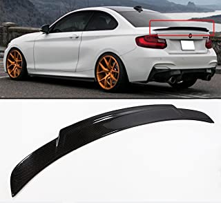 Cuztom Tuning Fits for 2014-2018 BMW F22 F32 2 Series 220i 228i M235I F87 M2 Extended Big High Kick Style Carbon Fiber Trunk Spoiler Wing