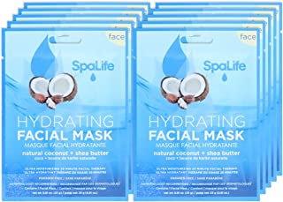 Sponsored Ad - SpaLife Hydrating, Purifying, Anti-Aging, Detoxifying and Soothing Korean Facial Masks - 10 Masks - (Coconu...