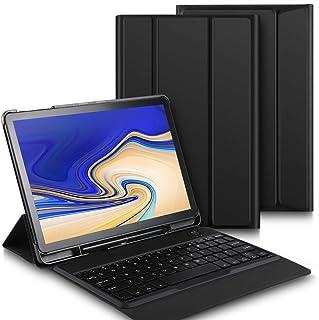 Luibor Samsung Galaxy Tab S4 10.5 Funda de Teclado Funda de Soporte Frontal Teclado Desmontable Samsung Galaxy Tab S4 10.5 SM-T830 (Wi-Fi) & SM-T835 (4G LTE) Tableta (Negro)