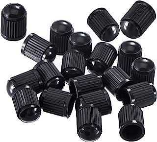 5pcs black plastic dust valve caps bike car wheel tyre air valve stem capsSK