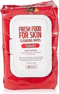 FARMSKIN Freshfood Face Wipes, Pomegranate, 60 Wipes, 290 gm