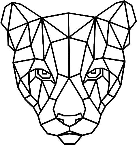 popular Wooden Animal online sale discount Wall Decor, Lion, Cat, Wolf Wall Art, Wall Art Decoration, Geometric Figure Decor sale