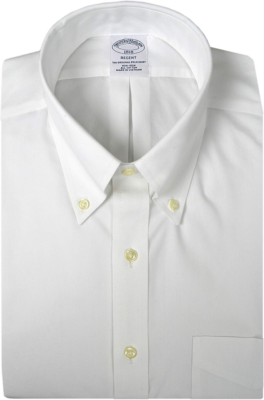Brooks Brothers Men's Regent Fit All Cotton Non Iron Dress Shirt Solids