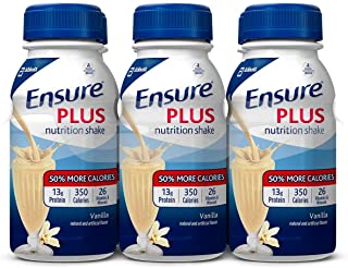 Ensure Plus Vanilla Flavor 8 oz. Bottle Ready to Use, 57263 - Pack of 6