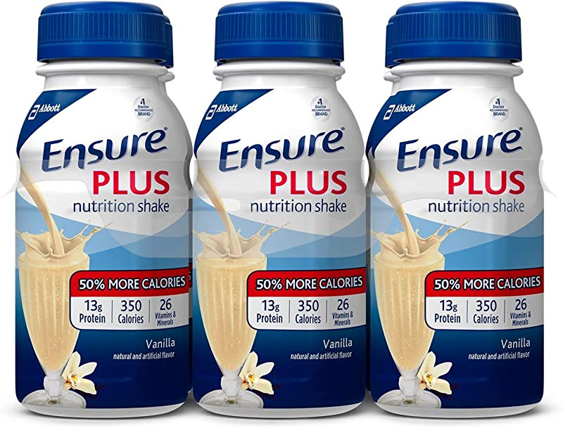 Ensure Plus Vanilla Flavor 8 Oz Bottle Ready To Use 57263 Pack Of 6