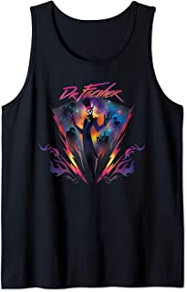 Disney Villains Dr. Facilier 90s Rock Band Neon Tank Top
