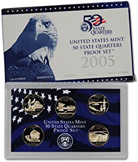 2005 S 50 State Quarters Proof Set Brilliant Uncirculated Proof