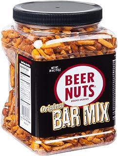 BEER NUTS Original Bar Mix - 26 oz Resealable Jar, Pretzels, Cheese Sticks, Sesame Sticks, Roasted Corn Nuts, and Original...