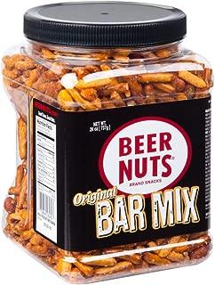 BEER NUTS Original Bar Mix - 26 oz Resealable Jar Sweet and Salty Kosher Nut Snack Mix