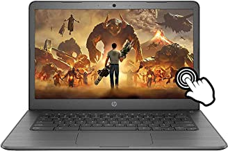 "2021 Newest HP Chromebook 14"" HD Touchscreen Laptop, Intel Celeron N3350(up to 2.4GHz), 4GB Memory, 32GB eMMC Flash Memor..."