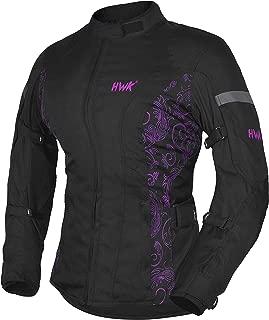 HWK Women's Motorcycle Jacket For Women Rain Waterproof Biker Moto Riding Ladies..