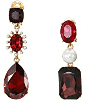 Oscar de la Renta - Bold Mixed Jewel Earrings