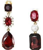 Oscar de la Renta - Bold Mixed Jewel Earrings