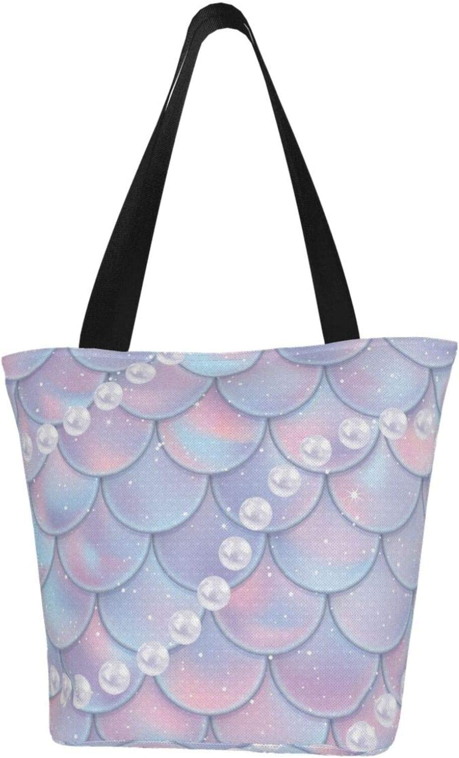 AKLID Mermaid Scales Pearl Extra Limited price sale Canvas To Resistant free Water Large
