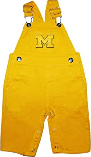 University of Michigan Wolverines Outlined M Baby Overalls