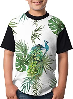 Youth Tee T Shirt For Teenager Moths Butterflies Seamless Boy Tshirts