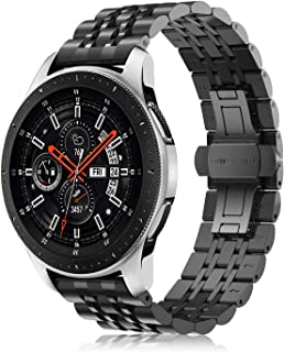 Fintie for Gear S3/Galaxy Watch 46mm Bands, 22mm Solid Stainless Steel Metal Bracelet Strap Replacement Wrist Band for Samsung Gear S3 Frontier/S3 Classic/Galaxy Watch 46mm Smartwatch, Black