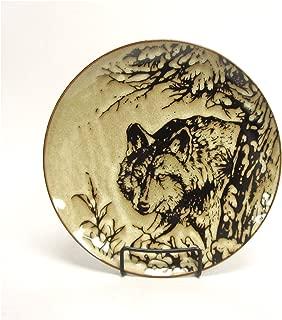 North America Woodlands Gray Wolf Stoneware Dinner Plate