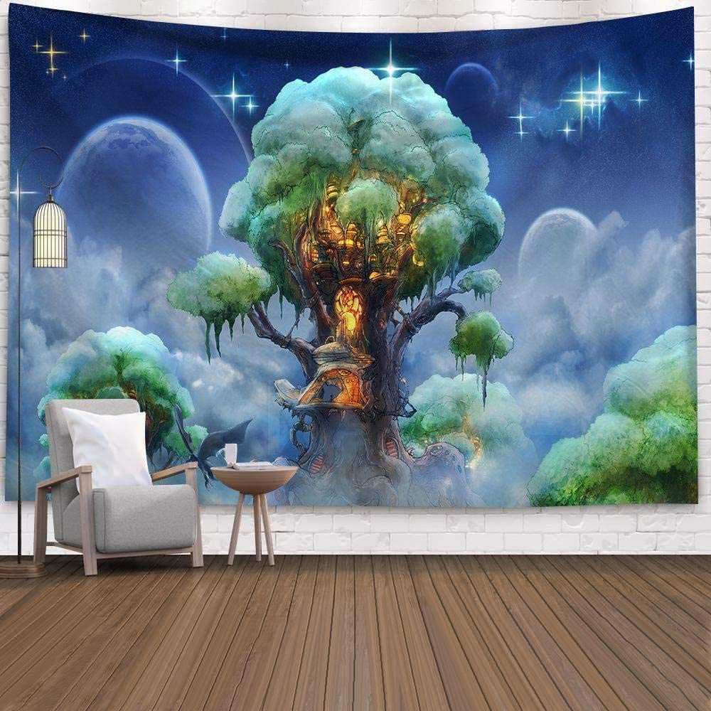 Amazon Com Zkorn Tapestry Wall Hanging Tapestries Blue Cartoon Starry Moon Tree Of Life Printing Aesthetic Beach Towel Yoga Mat Picnic Bed Sheet Blanket For Home Decoration Bedroom Living Room Dorm 95cm73cm Furniture Decor H e l l o l o v e l i e spalm trees really do capture the essence of holiday vibes. amazon com