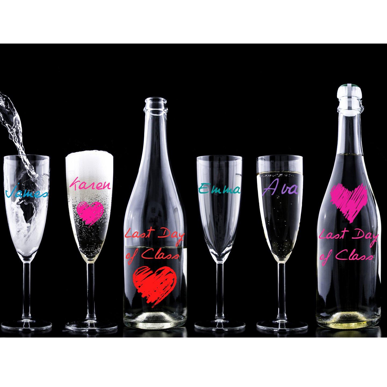 Compra MARCADORES DE COPAS DE VINO-8 Marcadores-Sirven para Cerámica-Personalice las Bebidas de Invitados en Amazon.es