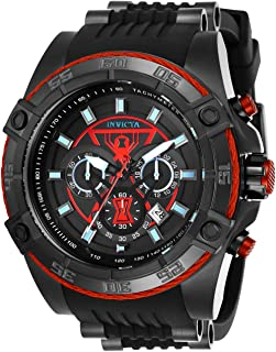 Men's Marvel Stainless Steel Quartz Watch with Silicone Strap, Black, 26 (Model: 26949)