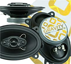 $46 » Sponsored Ad - 4X Gravity SGR464 4x6-Inch 4-Way 180 Watts Peak Power CEA Rated Car Audio Full Range Speakers Made with Alp...