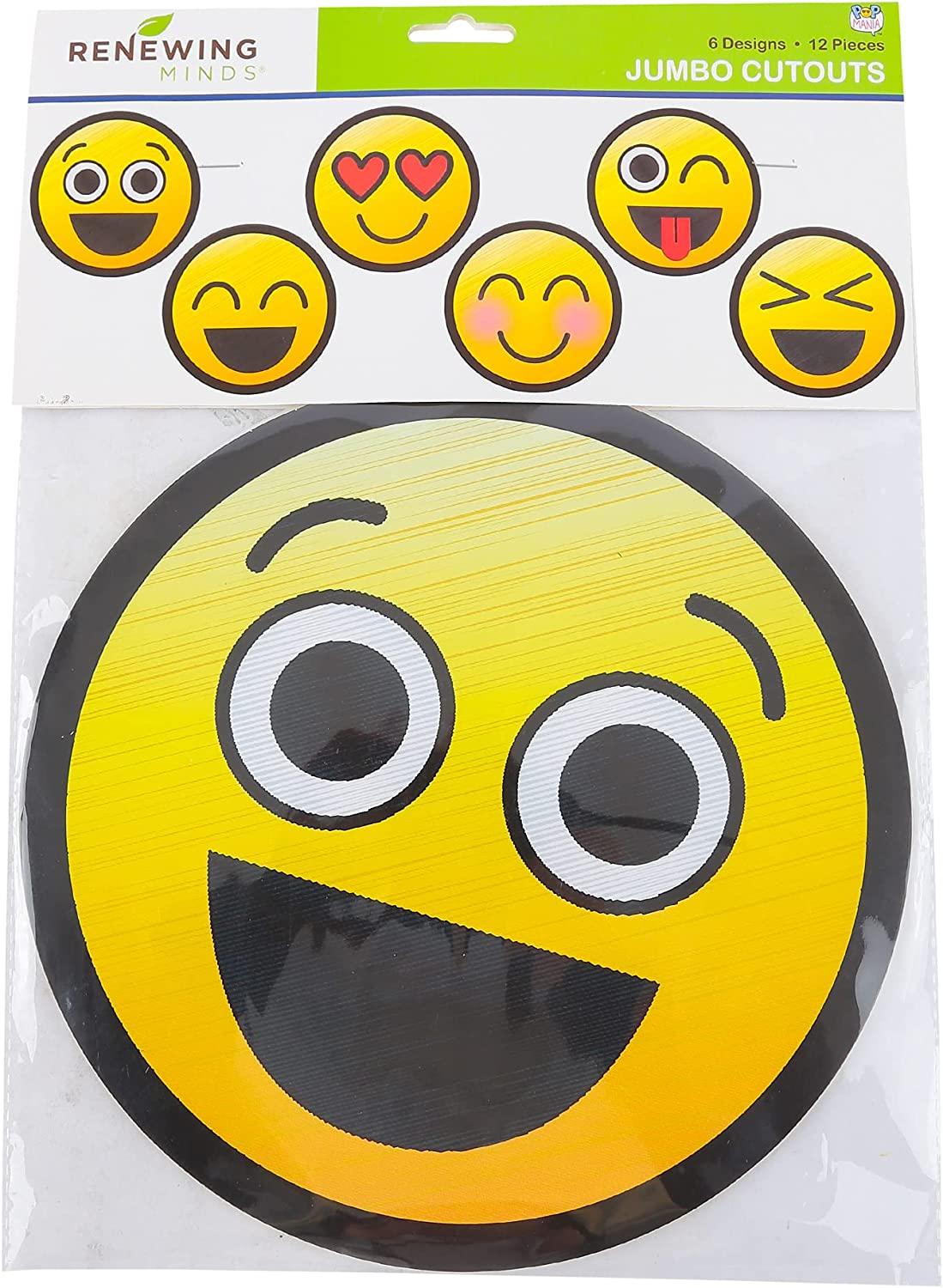 Pop Mania Collection Emoji Cheap super special price Jumbo Shaped Cutouts Inches 6 10 Tulsa Mall D