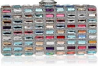 GLJJQMY Evening Bag Diamond Inlaid Evening Bag Banquet Dress Lady Hand Holding Evening Bag/Wallet Evening Bags (Color : Multicolor, Size : 18x9x5cm)